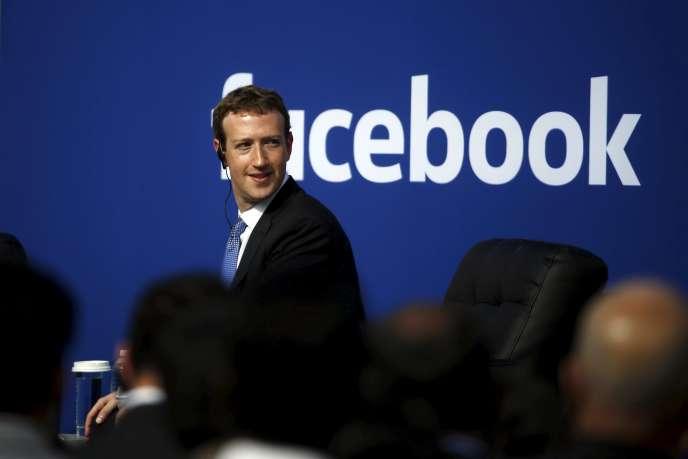 Mark Zuckerberg le 27 septembre au siège de Facebook, à Menlo Park en Californie.