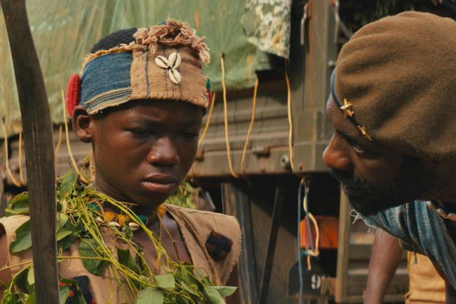 Le jeune (et talentueux) acteur ghanéen Abraham Attah dans Beasts of no nation, du réalisateur Cary Fukunaga.