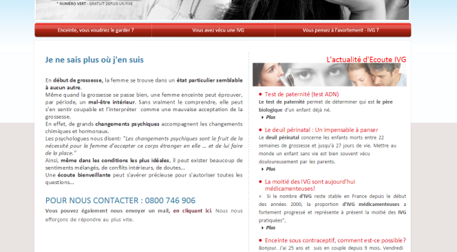 Capture du site ecouteivg.