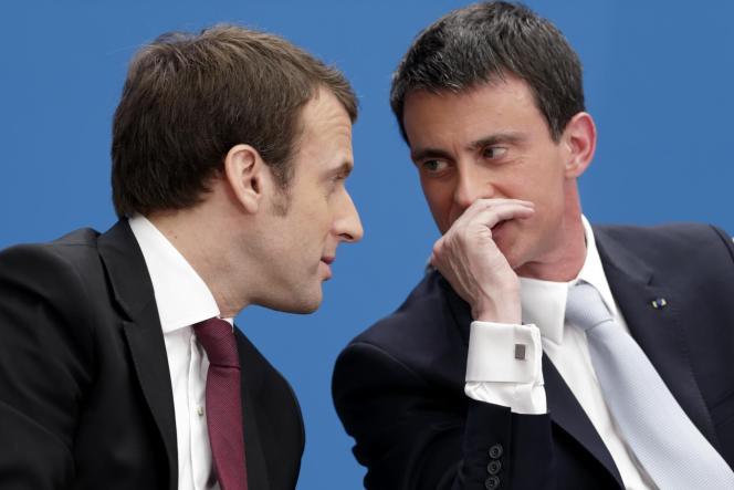 Il y a le spectacle désolant de la gauche socialiste au pouvoir en France, dont on se demande ce qui la rattache encore à la gauche, le dégoût qu'inspire l'axe Macron-Valls, qui ne parle que le langage de l'ordre, de la régression sociale, et l'incrédulité qui en découle : comment la gauche a-t-elle pu en arriver là ? (photo: Manuel Valls et Emmanuel Macron en avril à l'Elysée).