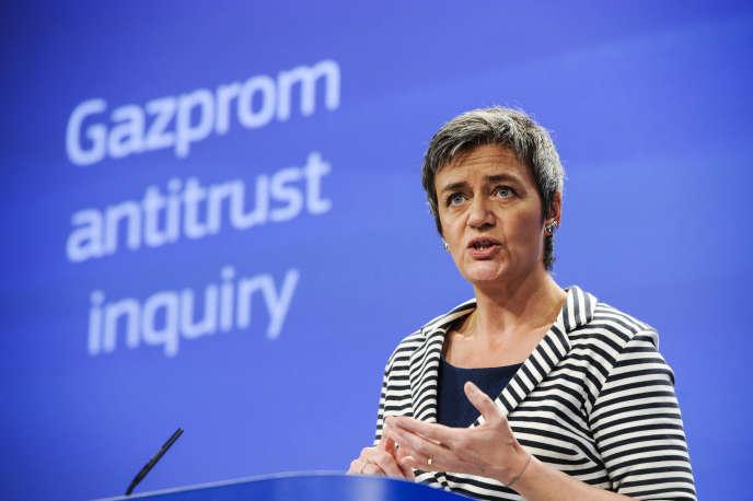 Margrethe Vestager, commissaire européen à la concurrence, le 22 avril à Bruxelles.