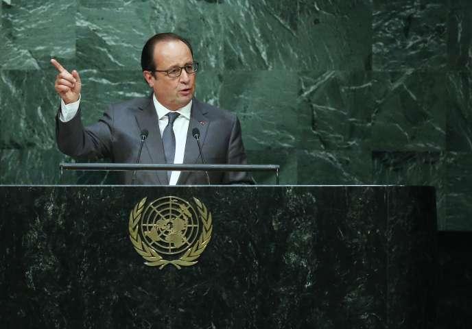 François Hollande s'adresse à l'assemblée générale des Nations unies, en septembre 2015.