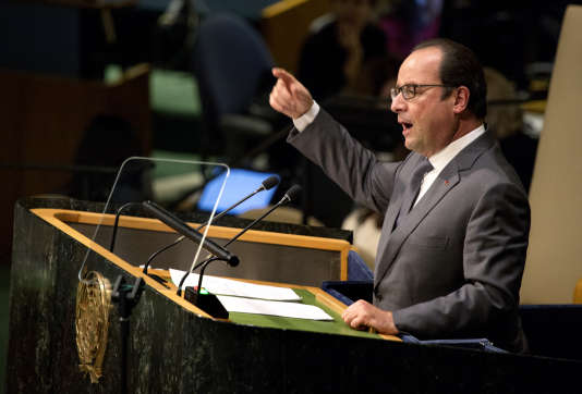 François Hollande à l'ONU, lundi.