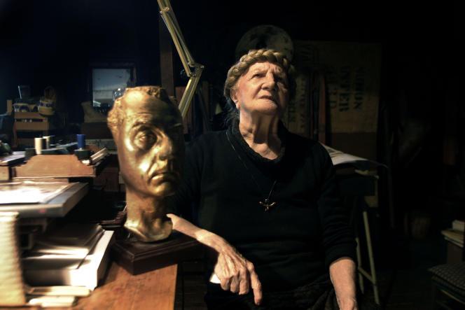 L'artiste italienne Carol Rama à Turin.
