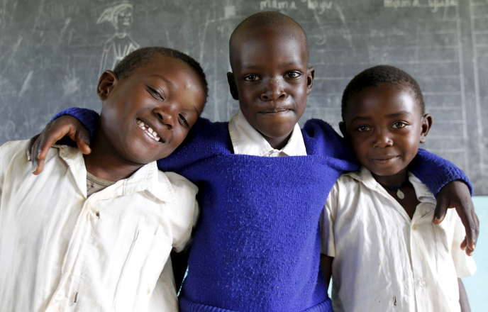 Dans une salle de classe à Kogelo (Kenya), en juin 2015.