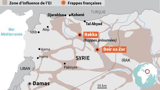 Frappes françaises en Syrie.