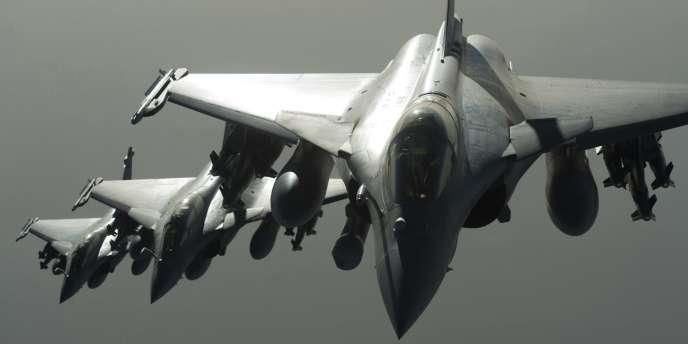 Des Rafale de l'armée de l'air française.