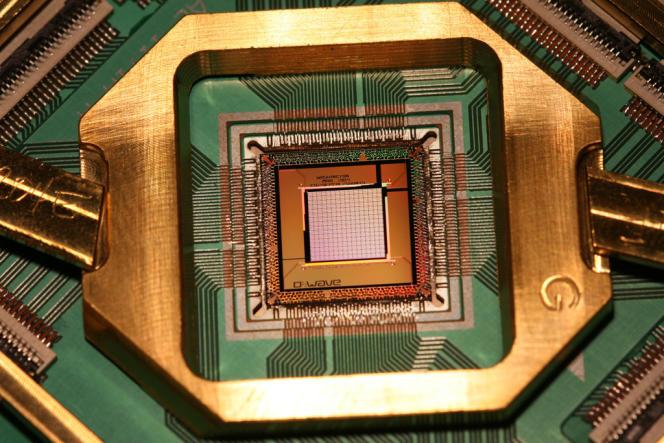 Le processeur quantique de D-Wave.