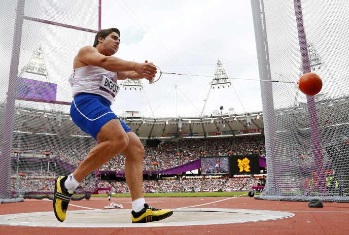Quentin Bigot lors des Jeux olympiques de Londres, le 3août 2012.