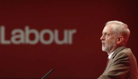 Jeremy Corbyn, le nouveau leader du Parti travailliste, lors du congrès annuel du parti à Brighton, le 29 septembre.