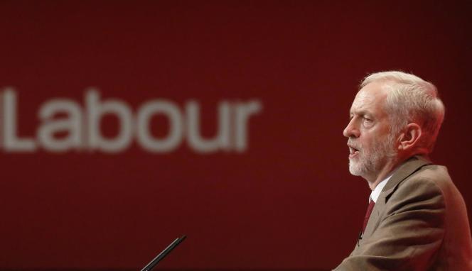Jeremy Corbyn, le nouveau leader du Parti travailliste, lors du congrès annuel du celui-ci à Brighton, le 29 septembre.