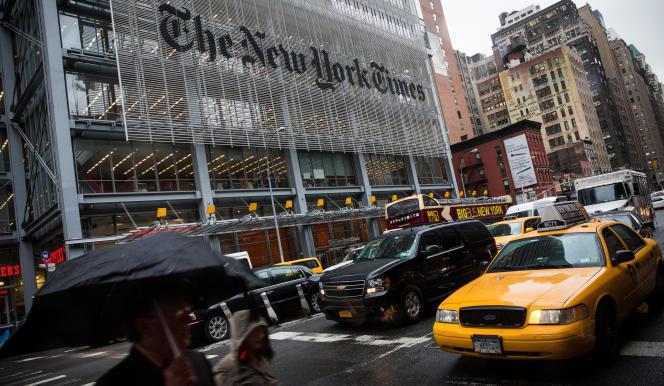 Le siège du New York Times à New York, en octobre 2014.