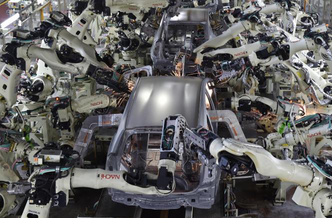 Usine Toyota de Tsutsumi, dans lapréfecture d'Aichi au Japon, le 4 décembre 2014.
