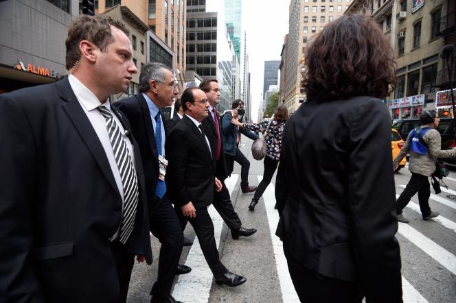 François Hollande, à New York, dimanche 27septembre.