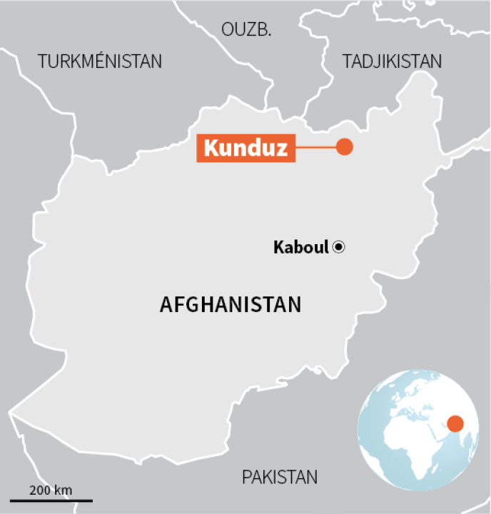 Kunduz, capitale provinciale du nord de l'Afghanistan.