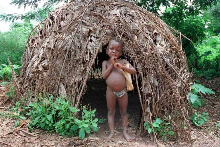 Un enfant pygmée de Centrafrique.