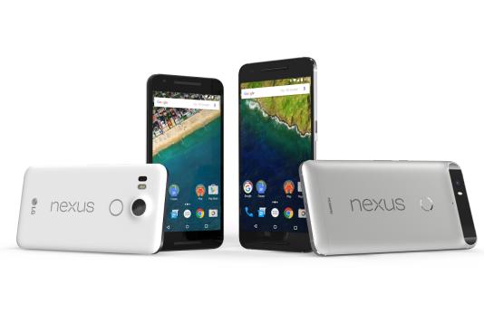 Le Nexus 6P et le Nexus 5X.