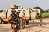 Des soldats à Ouagadougou, en 2015.