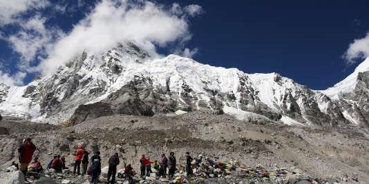 Camp de base au pied de l'Everest, le 27septembre.