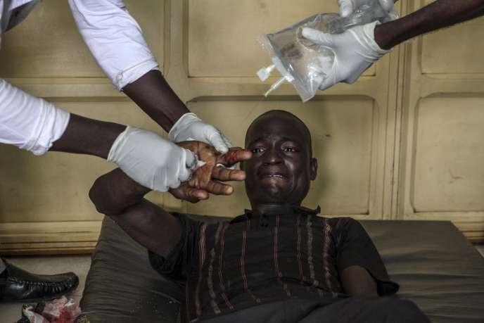 Dans un hôpital de Bangui, le 26 septembre.