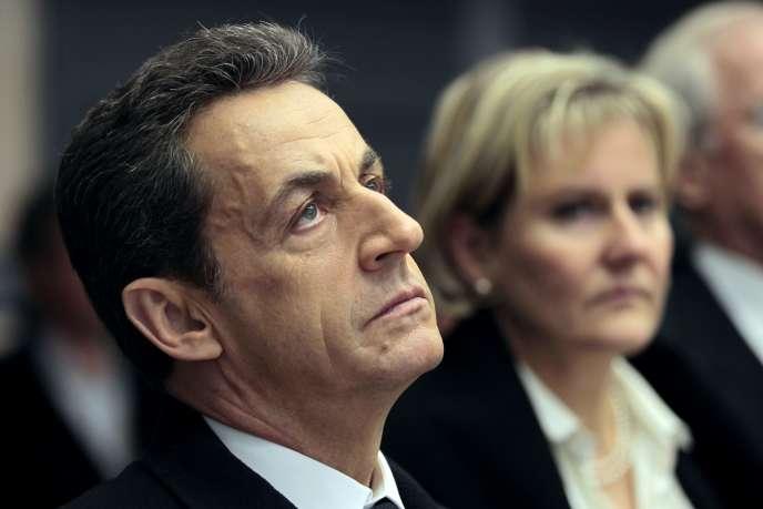 Nicolas Sarkozy et Nadine Morano en 2012.