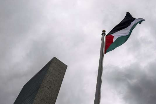 Le drapeau palestinien aux Nations unies à New York.