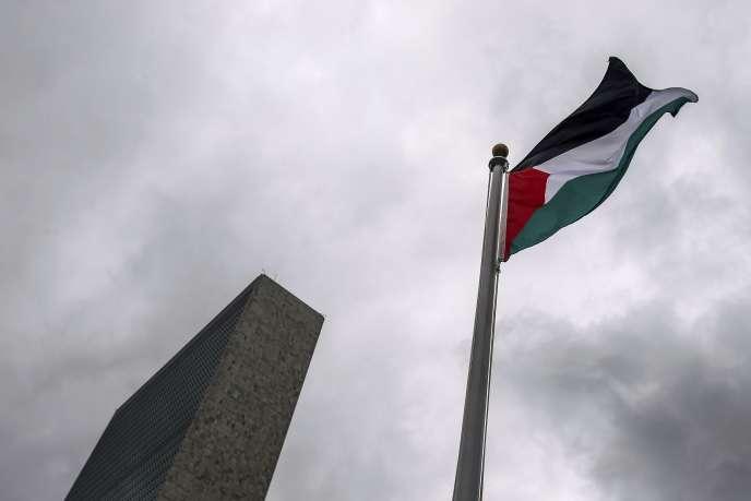 Le drapeau palestinien aux Nations unies à New York.