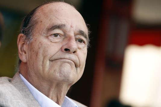 L'ancien président de la République Jacques Chirac, à Saint-Tropez le 14 août 2011.
