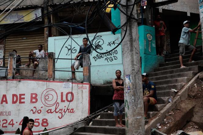 Dans la favela de Rocinha shantytown à Rio de Janeiro, le 23 avril 2015.