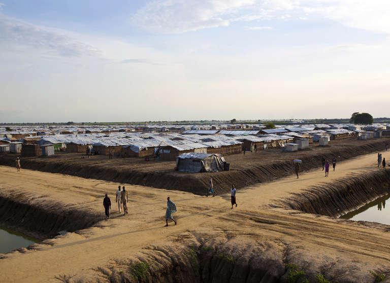 Près de 118 000 déplacés vivent dans le camp de l'ONU de Bentiu, au Soudan du Sud.