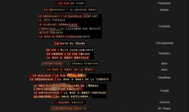 Accidents de la génération procédurale : les noms des boss du jeu« Diablo II».