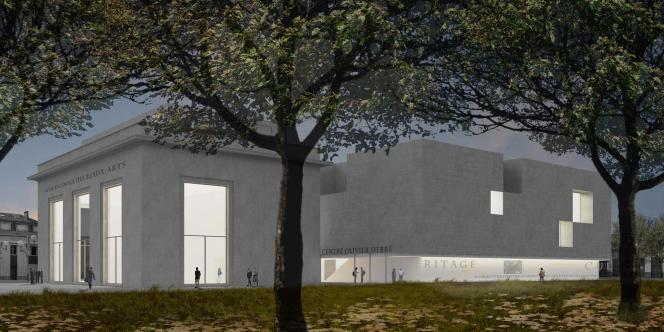 Perspective du futur Centre de création contemporaine Olivier Debré à Tours.