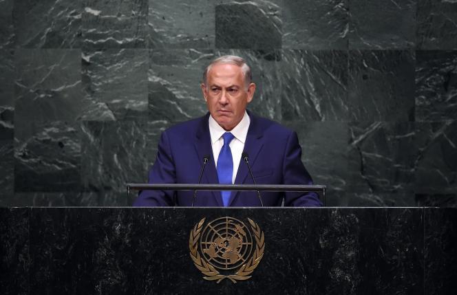 Le premier ministre israélien, Benyamin Nétanyahou, le 1er octobre devant l'Assemblée générale de l'ONU.