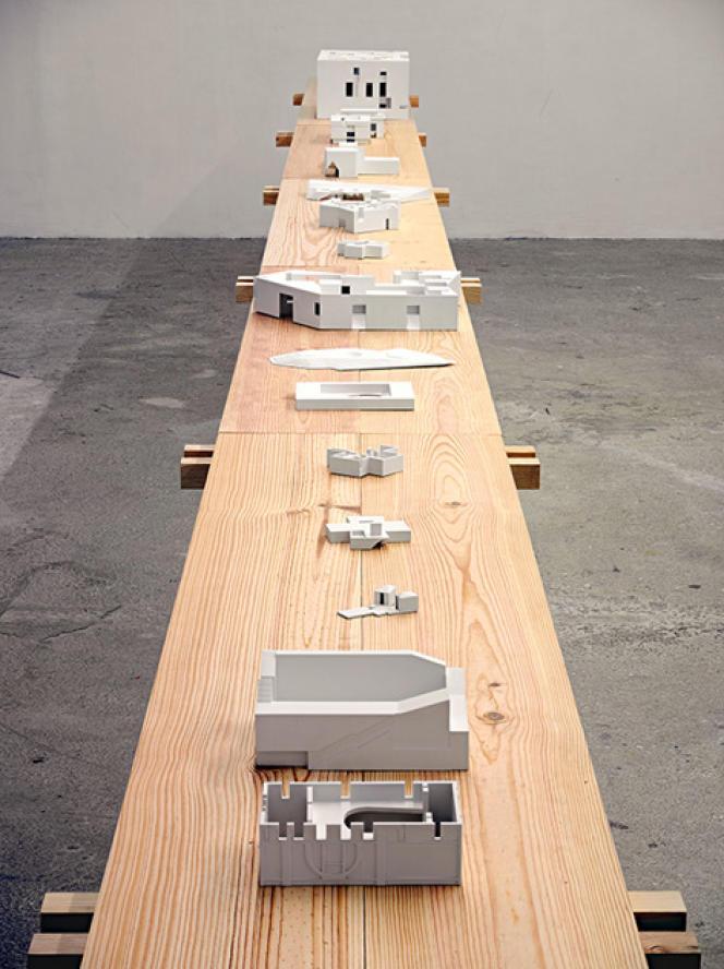 Vue de l'exposition Aires Mateus au Centre de création contemporaine Olivier Debré à Tours.