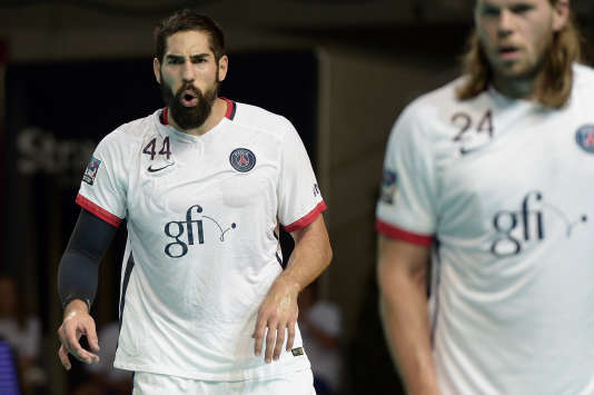 Nikola Karabatic joueur vedette du PSG Handball, le 20 août 2015 à Strasbourg.