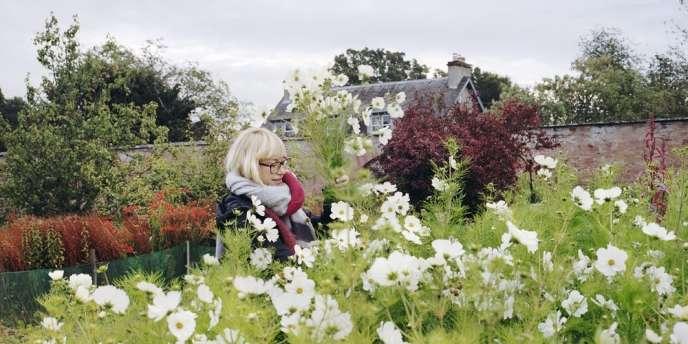 Le jardin  de Pyrus Flowers,  à Edimbourg (Ecosse), avec l'une des deux fondatrices.