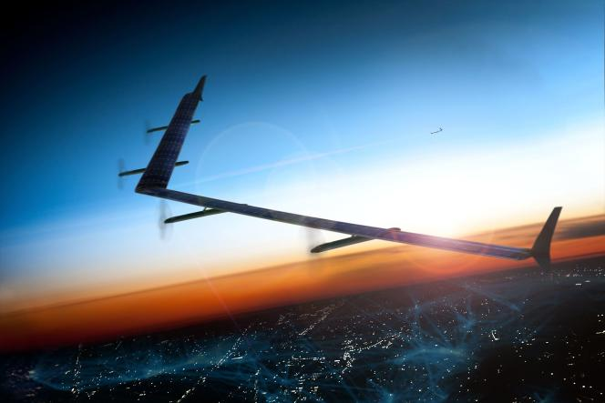 Le prototype du drone solaire imaginé par Facebook pour diffuser des connexions à internet dans des pays qui en sont dépourvus.