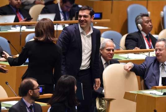 Alexis Tsipras à l'ONU, le 1er octobre.