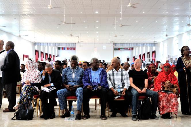 Les auteurs invités de la 8e Foire du livre d'Hargeisa, au Somaliland.