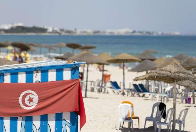 La plage de Sousse, en Tunisie, où un attentat a fait 38victimes parmi les touristes.