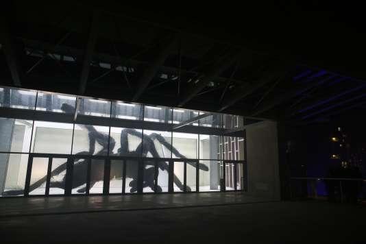 "L'installation ""Spider Projection V 2"" des artistes Friedrich van Schoor et Tarek Mawad."
