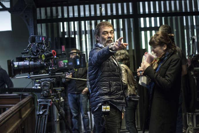 Olivier Marchal sur le tournage du téléfilm