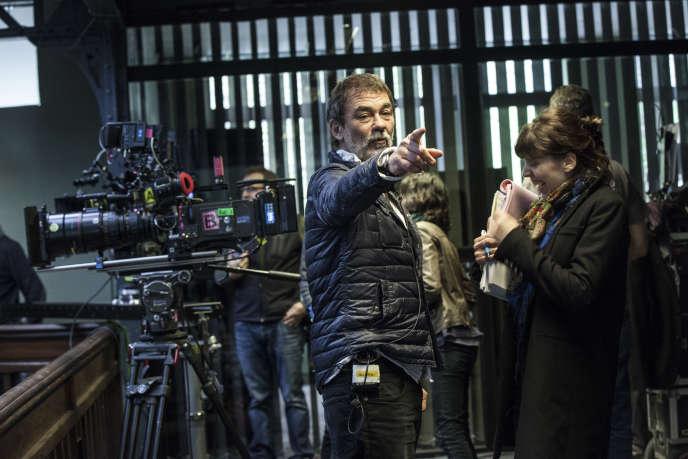 Le réalisateur Olivier Marchal en tournage en 2015.