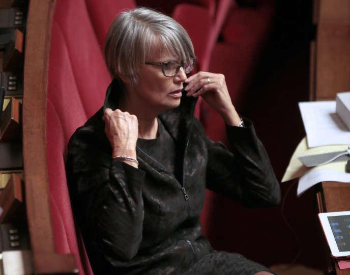La députée écologiste de la Vienne, Véronique Massonneau, en 2013 à l'Assemblée nationale.