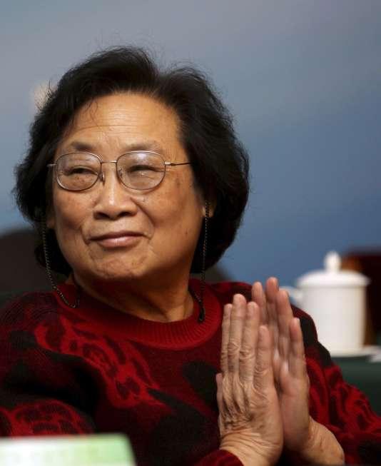 La chercheuse chinoise Youyou Tu, co-lauréate du Prix Nobel de médecine 2015.