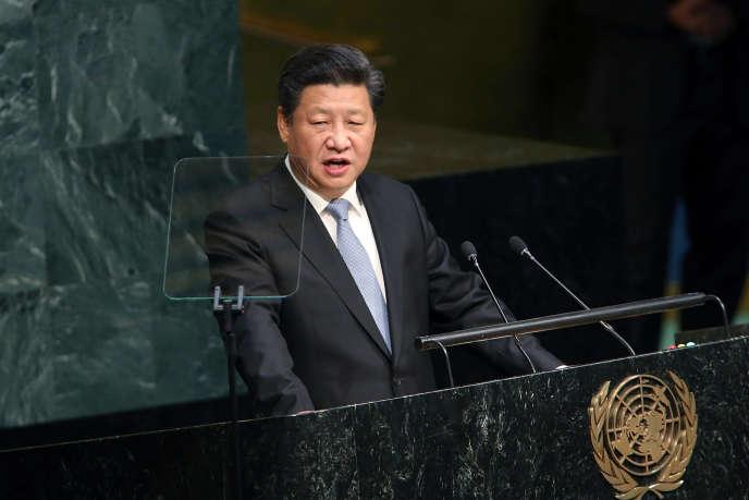 Le président chinois Xi Jinping à la tribune des Nations unies le 28 septembre 2015.