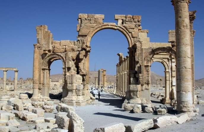 L'arc de Palmyre, photographié en juin 2010.
