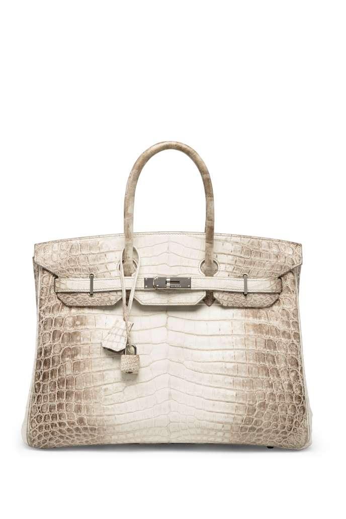 3b1fdcae0c Sac à main Hermès modèle Birkin Himalaya, en cuir de crocodile blanc.