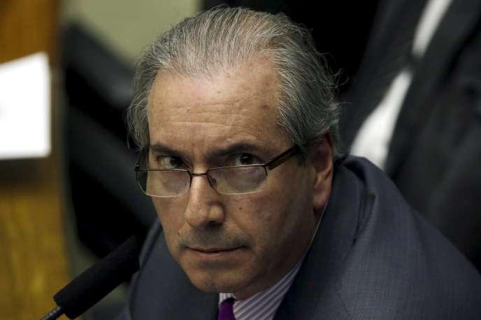 Le président de la Chambre des députés, Eduardo Cunha, à Brasilia, le 22 septembre.