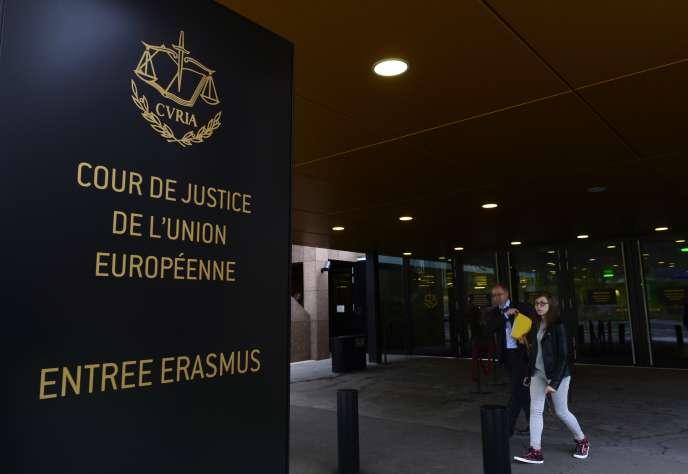 La Cour Européenne de Justice à Luxembourg le 5 octobre 2015.
